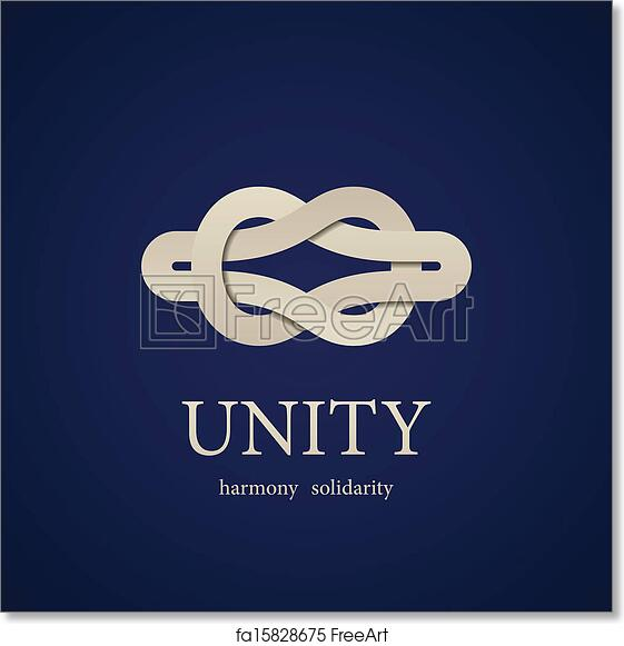 Free Art Print Of Vector Unity Knot Symbol Design Template Freeart