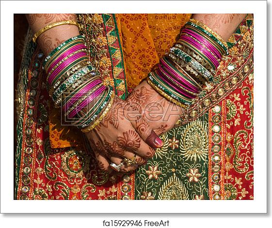 Free Art Print Of Henna On Hands Of Bride From India Hands Of An