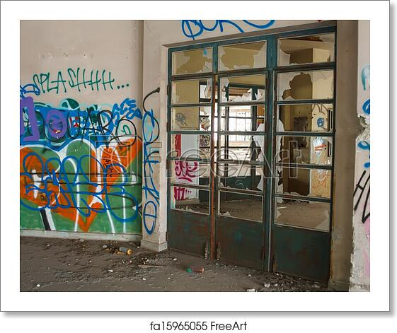 Free Art Print Of Abandoned Building. View Of Interior Of