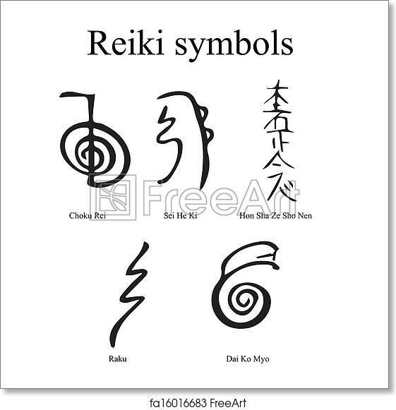 Free Art Print Of Reiki Symbols Freeart Fa16016683