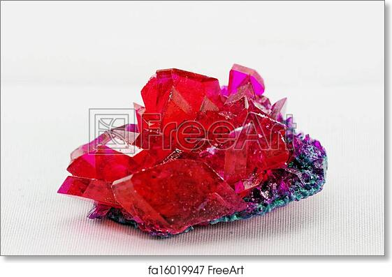 Free Art Print Of Close Up Crystals In Ruby Color