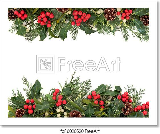 Christmas Images To Print.Free Art Print Of Christmas Holly Border