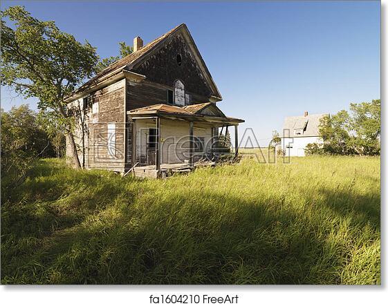 Free art print of Old Farm house