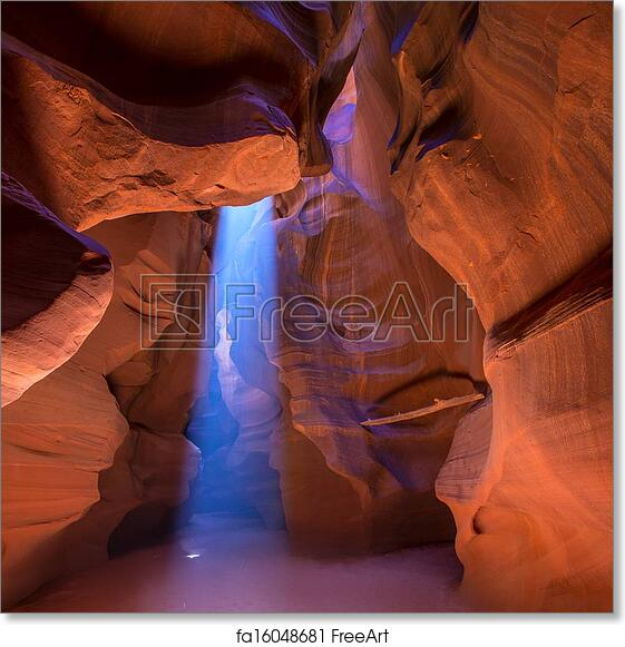 Free art print of Antelope Canyon Arizona on Navajo land near Page
