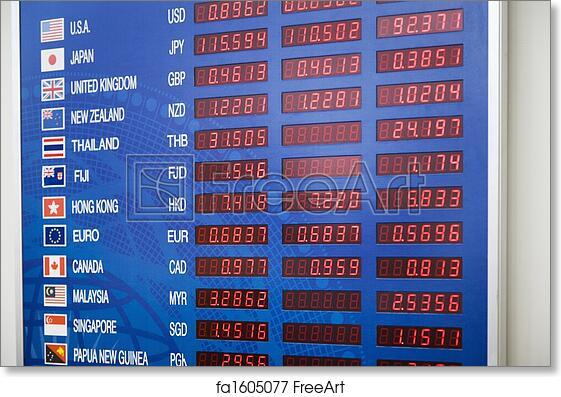 Free art print of Exchange rate display