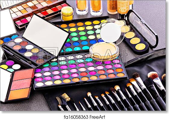 Free art print of Professional makeup kit. Closeup of a professional makeup kit | FreeArt | fa16058363