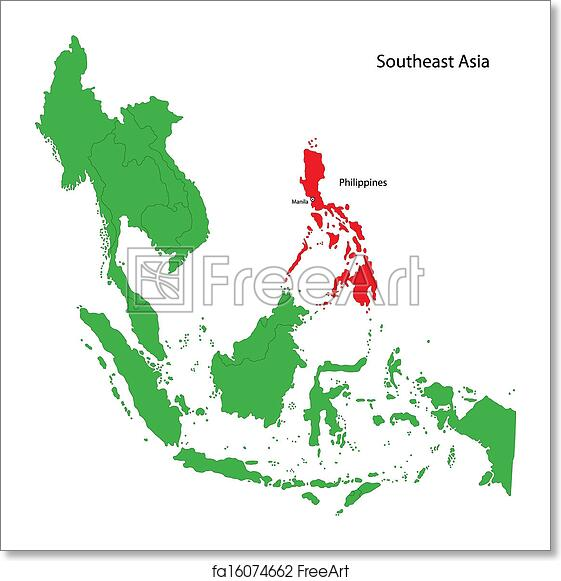 Free Art Print Of Philippines Map Location Of Philippines On