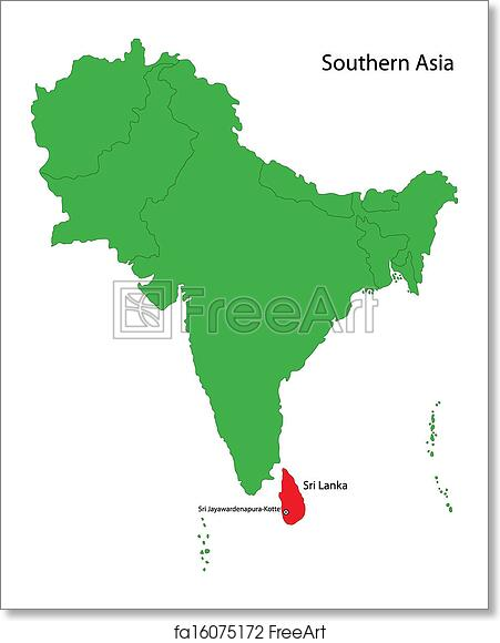 Free art print of Sri Lanka map