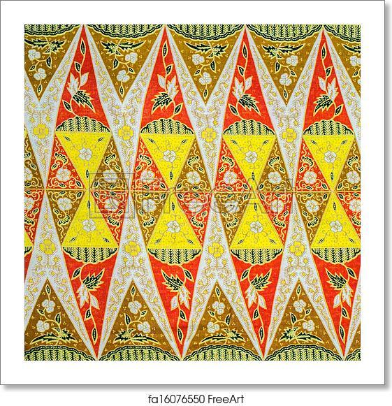 Free Art Print Of Malaysia Batik Pattern. Malaysia Textile