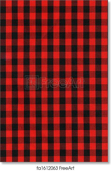 Free Art Print Of Red And Black Checkered Fabric Texture Red And