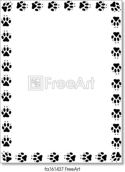 Free Art Print Of Dog Pawprint Frame Frame Of Black Pawprints