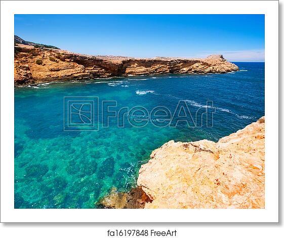 Free art print of Ibiza Punta de Sa Galera beach in San Antonio
