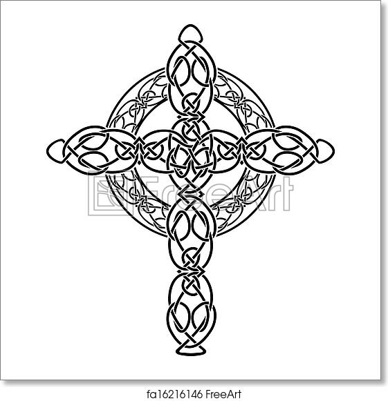 Free Art Print Of Knotted Celtic Cross Stencil Knotted Celtic Cross