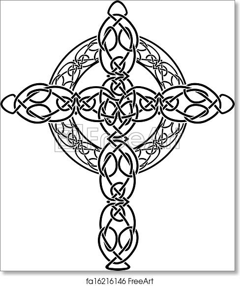 graphic regarding Printable Celtic Stencils named Cost-free artwork print of Knotted celtic cross stencil