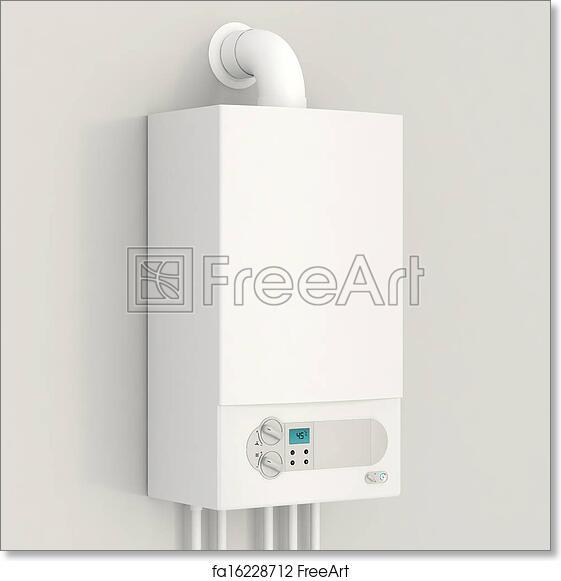 Free art print of White gas boiler. White gas boiler. Heating house ...