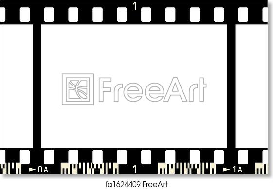 Free art print of Film Strip. Film Strip (1 Frame, with numbers ...