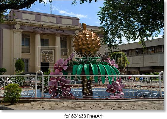 Free art print of Davao Town Hall
