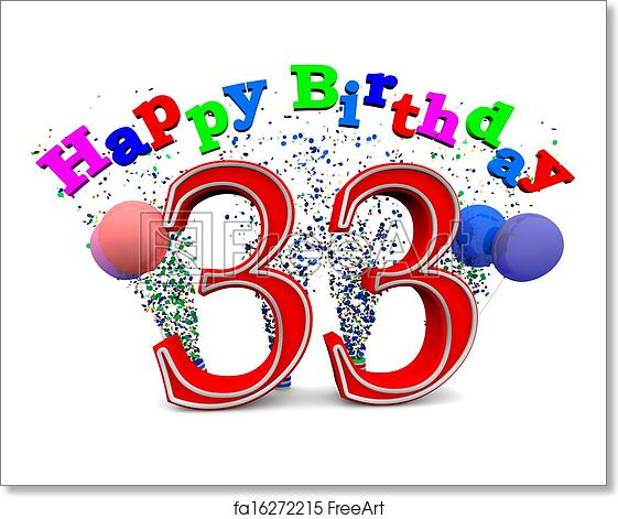 Free Art Print Of Happy 30th Birthday