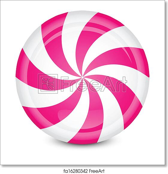 free art print of peppermint candy vector illustration of