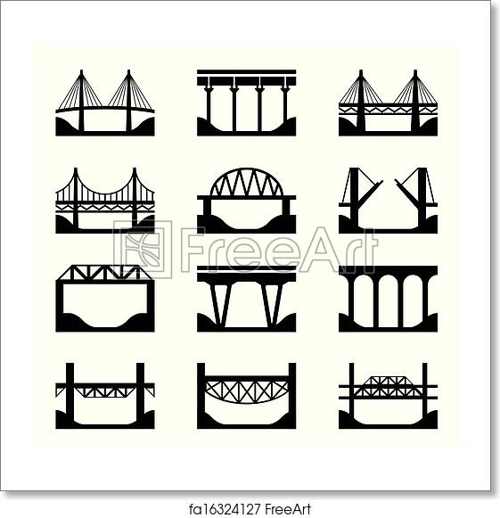 Free art print of Various types of bridges