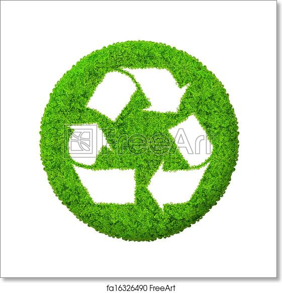 Free Art Print Of Green Recycle Symbol Green Recycle Symbol Isolated Freeart Fa16326490