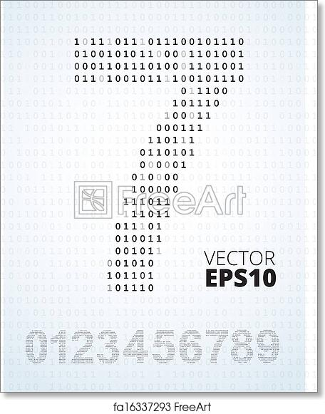 photograph about Printable Numbers 0 9 named Free of charge artwork print of Selection 0-9, alphabet versus binary code