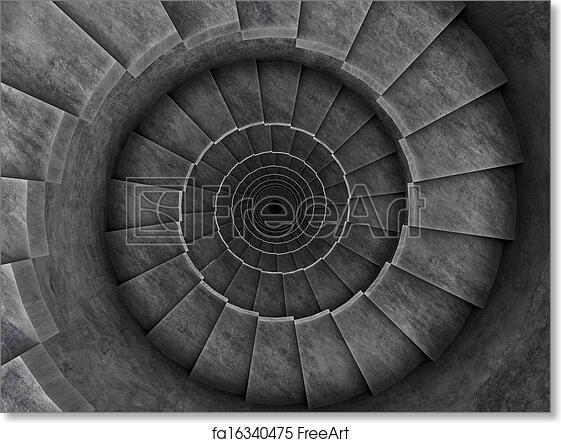 Free Art Print Of Spiral Stair