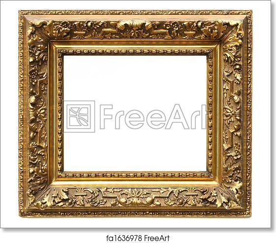 Free art print of Old cracked gilded frame on white . Old cracked ...