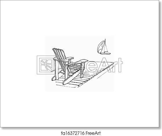 Free art print of Summer Dock