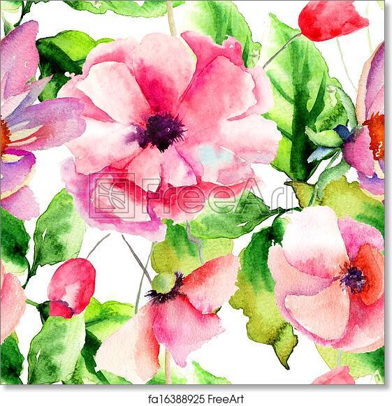 Free art print of seamless pattern beautiful poppy flowers seamless free art print of seamless pattern beautiful poppy flowers mightylinksfo