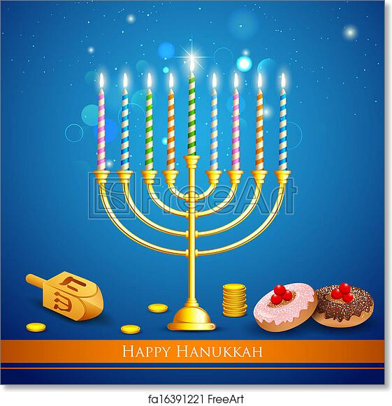 photograph regarding Hanukkah Prayer Printable identified as Free of charge artwork print of Hanukkah Heritage