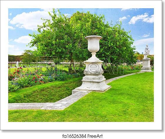 Free Art Print Of Sculpture And Statues In Garden Of Tuileries