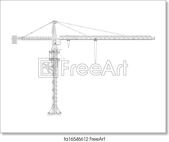 Free art print of Wire frame tower crane