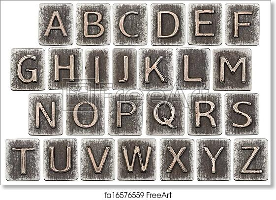 D Numbers In Antique Letterpress Type Art Print Home Decor Wall Art Poster