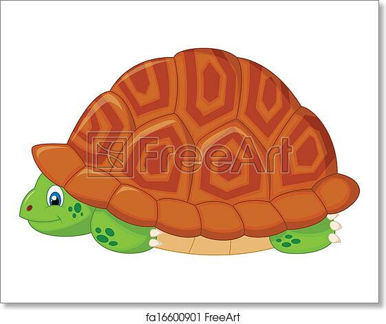 Free Art Print Of Turtle Cartoon Hiding In His Shell Vector