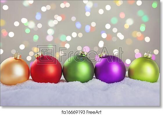 Colorful Christmas Balls.Free Art Print Of Christmas Balls