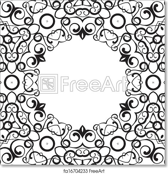 Free art print of Formality circular devices of border frames ...