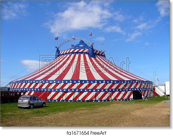 online store 47d0c fe0b7 Free art print of American circus tent exterior
