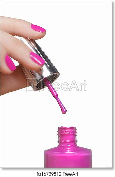 Free art print of Nail polish. Close-up of female hand holding a ...