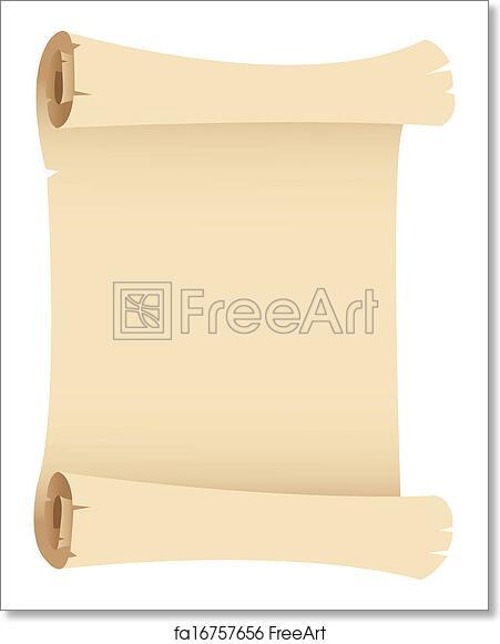 Free art print of Old Grunge Paper Scroll
