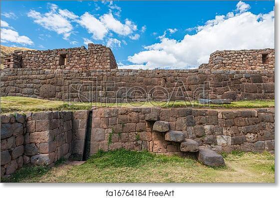 Free art print of Tipon ruins peruvian Andes Cuzco Peru. Tipon ...