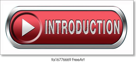 Free art print of Introduction button