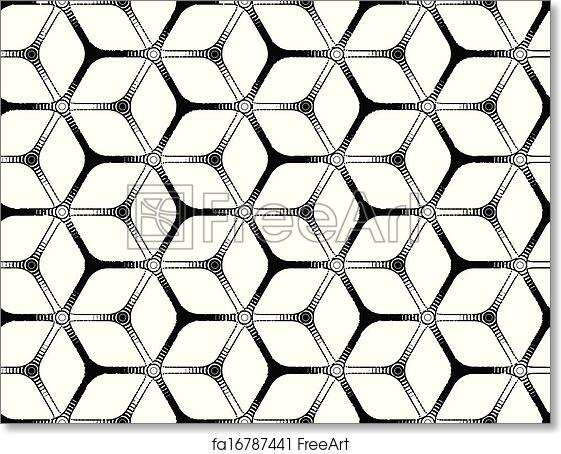 photo about Printable Hex Grid identify Free of charge artwork print of Hard drawing styled futuristic hexagonal grid