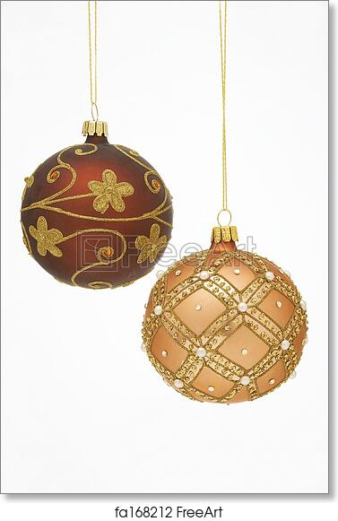 Goldene Weihnachtskugeln.Free Art Print Of Christmas Balls Weihnachtskugeln