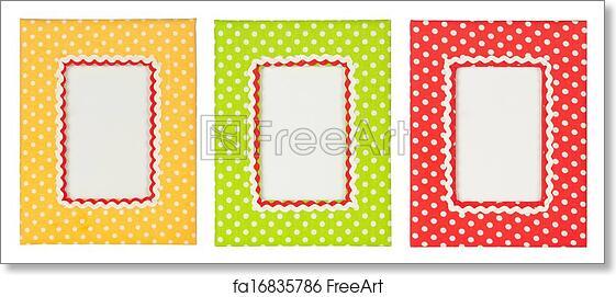 Free art print of Polka dots photo frame. Colored polka dots frames ...
