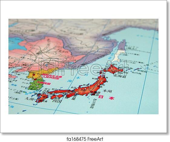 Free art print of japan nihon map detail detail of a world map on free art print of japan nihon map detail gumiabroncs Images