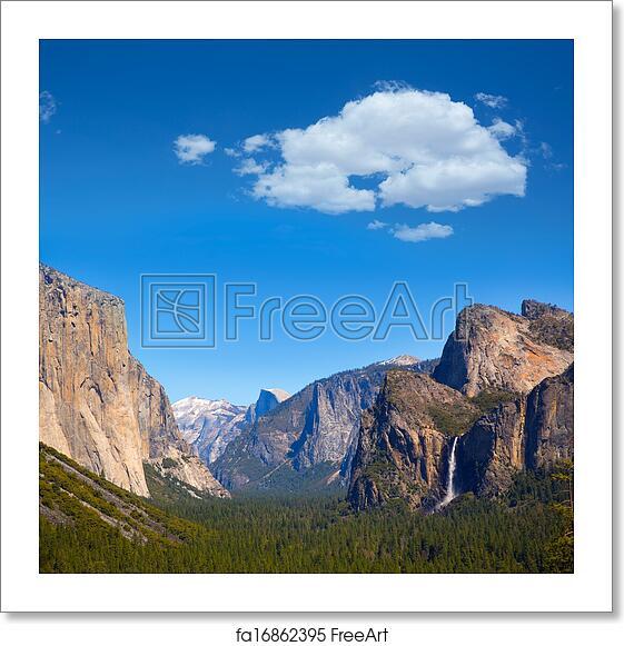 Yosemite Retro Poster El Capitan: Free Art Print Of Yosemite El Capitan And Half Dome In
