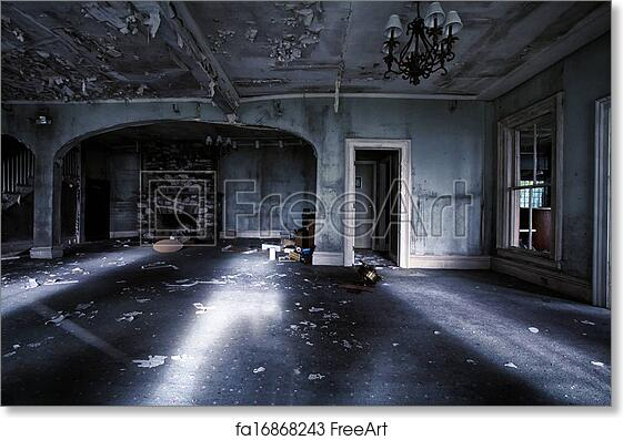 Free art print of Abandoned house interior