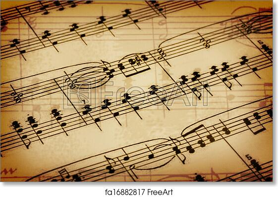 Free Art Print Of Background With A Music Notes Background With A