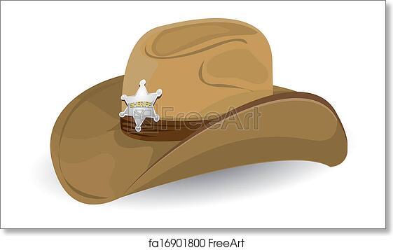 fd36dad92 Free art print of Cowboy hat. vector illustration.